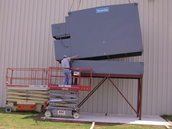 Example of an outdoor equipment install