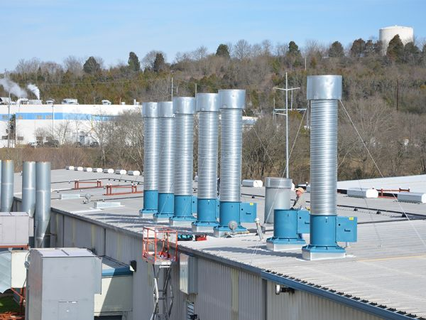 Rooftop View of Exhaust Stacks