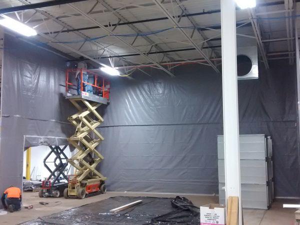 Installation Underway for Gel Area
