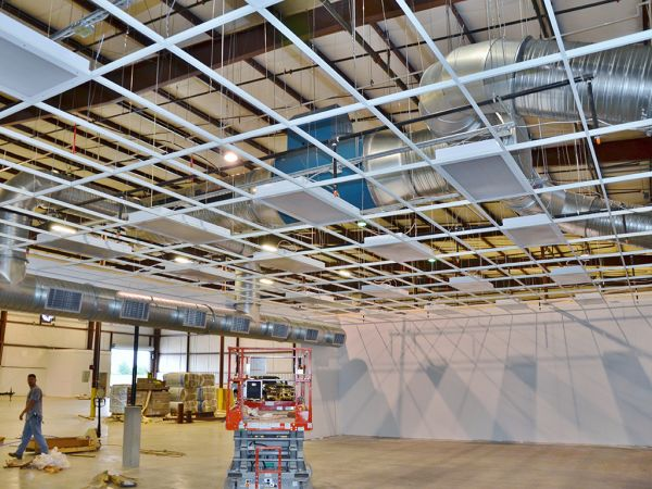 Grinding Booth Ceiling Install