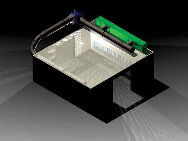 Digital Cutaway of a Grinding Booth