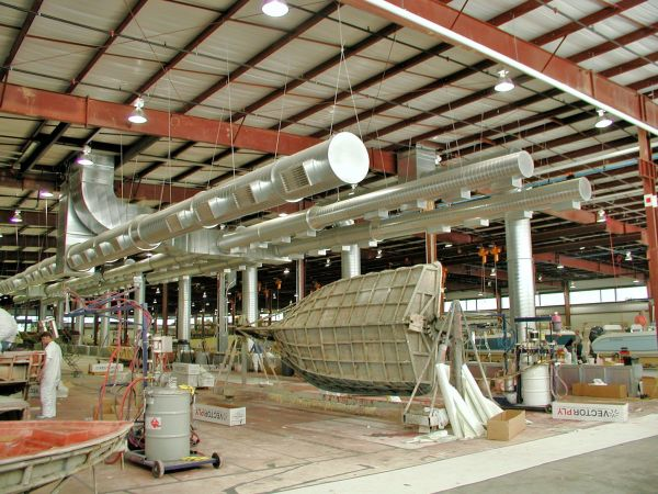 Ventilation system examples for large work zones