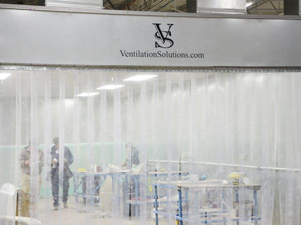 Example of V.S. Strip Curtains