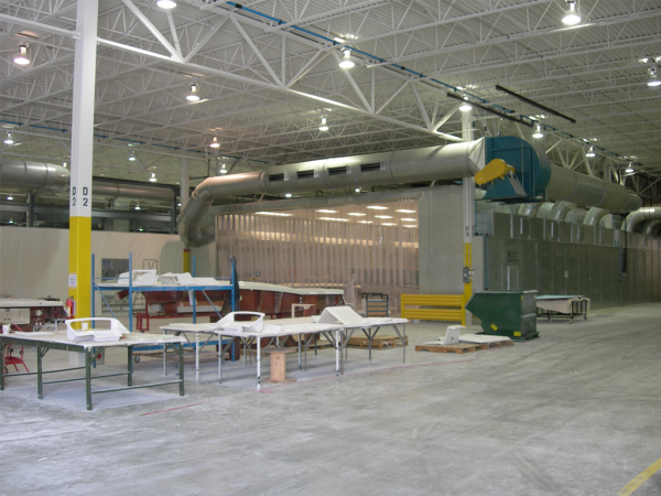 Example of a Large Grinding Booth