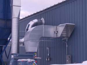 Wood Dust Collection Ventilation Application